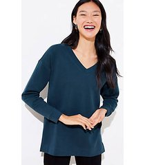 loft v-neck tunic sweatshirt