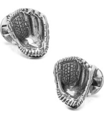 sterling baseball glove cufflinks
