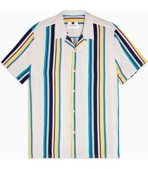 mens light multicoloured stripe slim shirt