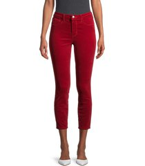 l'agence women's mid-rise cropped jeans - cardinal - size 25 (2)