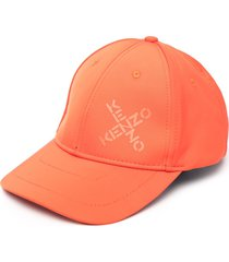 kenzo logo-print six-panel cap - orange