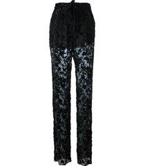 etro sheer trousers - black