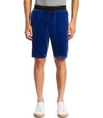 velvet track shorts