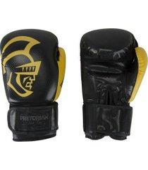 luvas de boxe pretorian black line - 14 oz - adulto - preto/amarelo