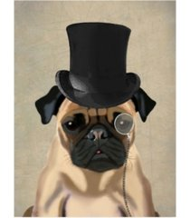 "fab funky pug, formal hound and hat canvas art - 36.5"" x 48"""