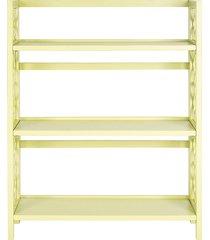 safavieh natalie three-tier low bookcase - avocado