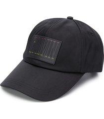 calvin klein jeans logo patch cap - black