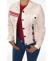 chaqueta clásica dama jeans blanco di bello jeans  classic jacket ref c095