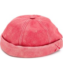 junya watanabe calf leather round cap - red