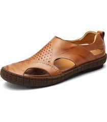 sandali in pelle traspirante