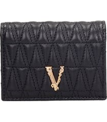 versace wallet in black leather