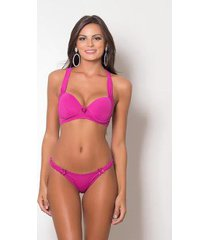 lingerie pink tricot sutiã nadador e calcinha conforto feminino - feminino