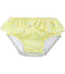 knot ruffled bikini bottoms - yellow
