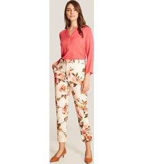 pantalón floral blanco 4