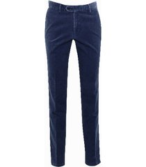 duetz1857 duetz tailors 1857 broek in stretch minicord stretch blauw