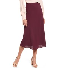 women's halogen bias cut a-line skirt, size xx-large - burgundy