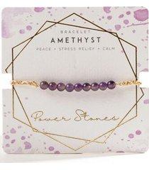 amethyst braided bracelet - purple