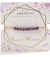 amethyst braided bracelet - purple