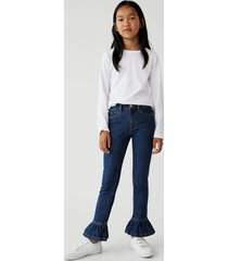 katoenen jeans met ruches