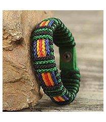 men's wristband bracelet, 'kente expedition' (ghana)