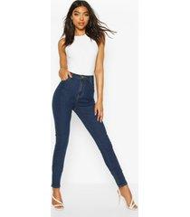 """tall high waist 36"""" leg skinny jeans, mid blue"""