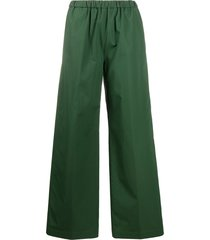 aspesi poplin wide-leg trousers - green