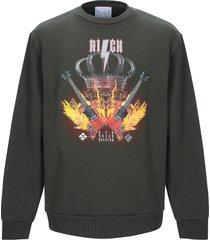 john richmond designer sweatshirts, deep forest printed cotton men's sweater