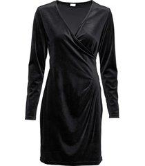 abito a portafoglio in velluto (nero) - bodyflirt