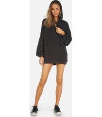 brayden core hoodie dress - light onyx l