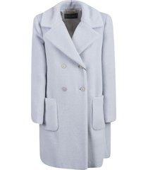 alberta ferretti double-breasted fur coat