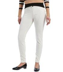 hue women's cotton-blend corduroy pants - white - size xl