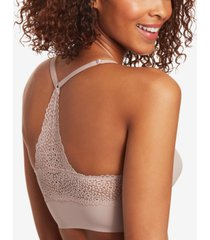 maidenform pure comfort v-neck lace-racerback bralette dm7679