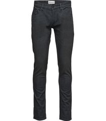 tapered fit jeans, matt black jeans svart shine original