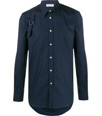 alexander mcqueen buckle detailed shirt - blue