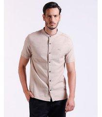 camisa m/c perilla doble