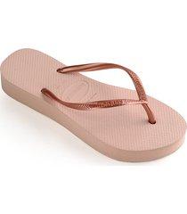 slim platform flip flops