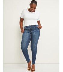 lane bryant women's signature fit skinny jean - royal crush dark wash 28l dark denim