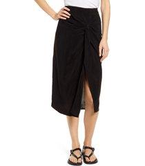 women's stateside twist front cupro skirt