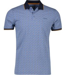 poloshirt blauw geprint state of art