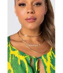 akira gemini pave layered necklace