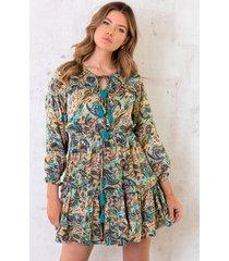 ibiza dress paisley turquoise