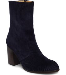 marit shoes boots ankle boots ankle boots with heel blå won hundred