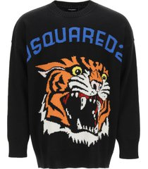 dsquared2 tiger knit sweater