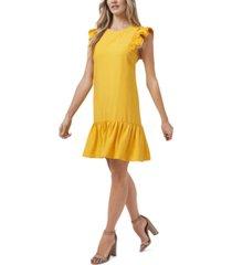 cece ruffled flutter-sleeve dress