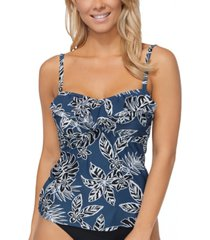 island escape rainforest ruffled tankini top, created for macy's women's swimsuit