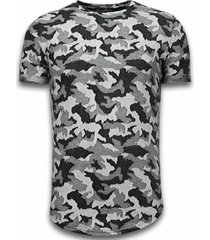 t-shirt korte mouw justing casual camouflage pattern - aired slim fit t-shirt -