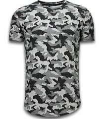 t-shirt korte mouw justing camouflage pattern aired
