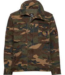 patched field jacket dun jack multi/patroon superdry