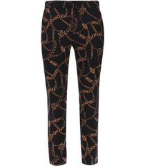 pantalon estampado cadenas color negro, talla 10