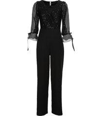 tuta elegante con paillettes (nero) - bodyflirt boutique